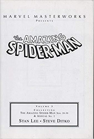 Marvel Masterworks Presents the Amazing Spider-Man Volume 3 (NOS. 20-30&ANNUAL NO. 2) (9780760755655): Stan Lee: Books