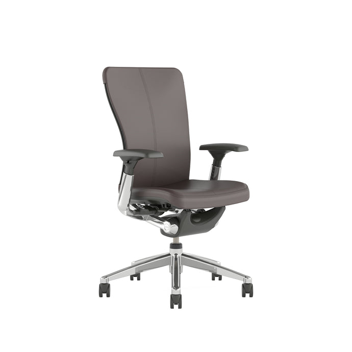 Zody Leather Office Chair with Height Adjustable Arms