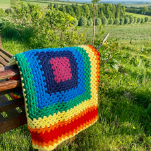 Load image into Gallery viewer, Handmade Crochet Chakra Yoga Blanket