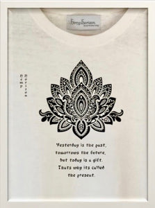 Hemp Eco Printed T-Shirt Lotus Leaf