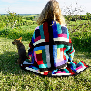 Handmade Knitted Yoga  Blanket