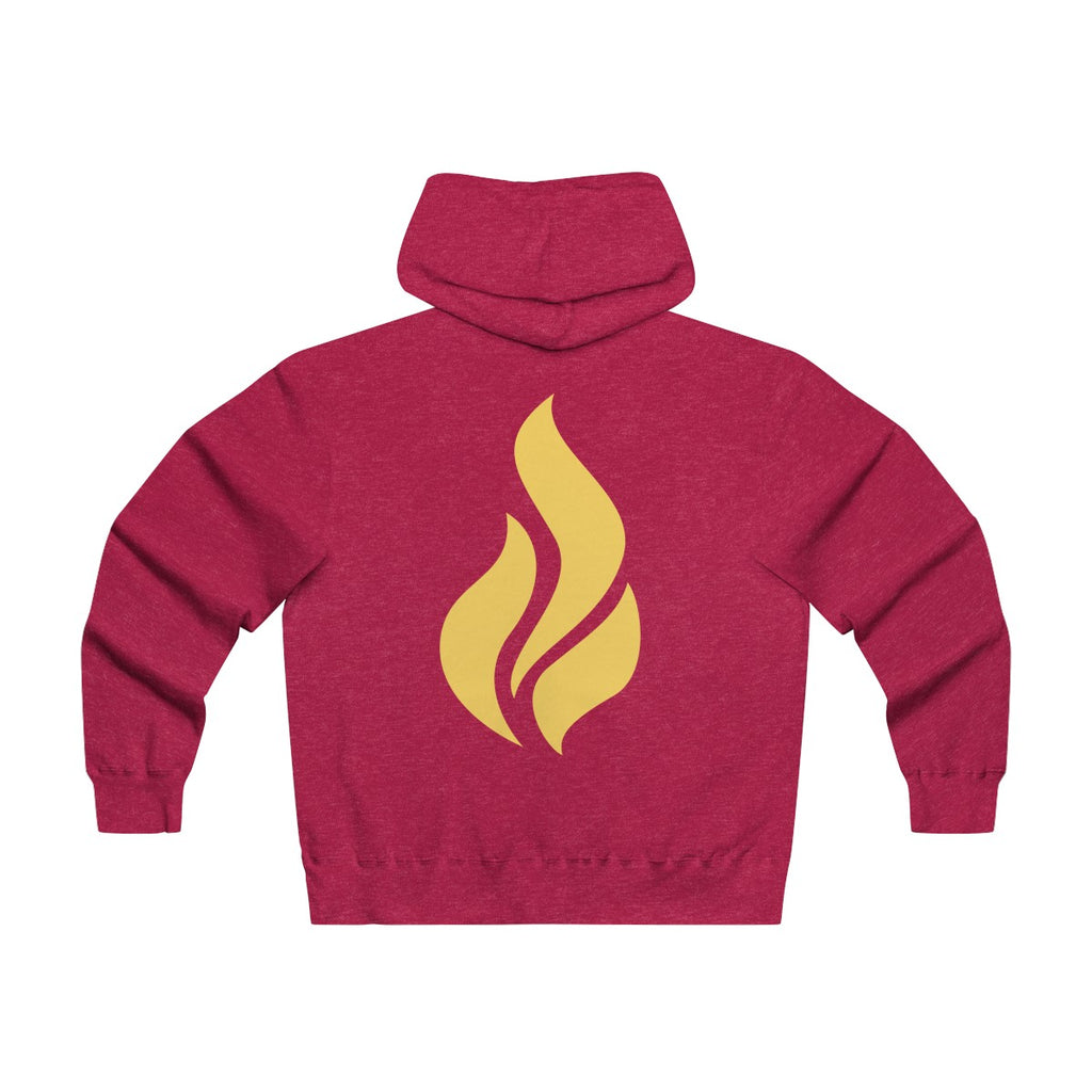 Lightweight Zip Hooded Flame Back Sweatshirt