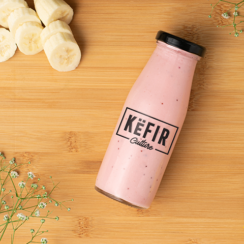Strawberry Banana Kefir
