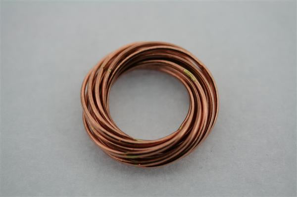 Copper Russian Ring 14 Individual Loops