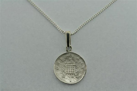 1 Penny Pendant on 55cm link chain