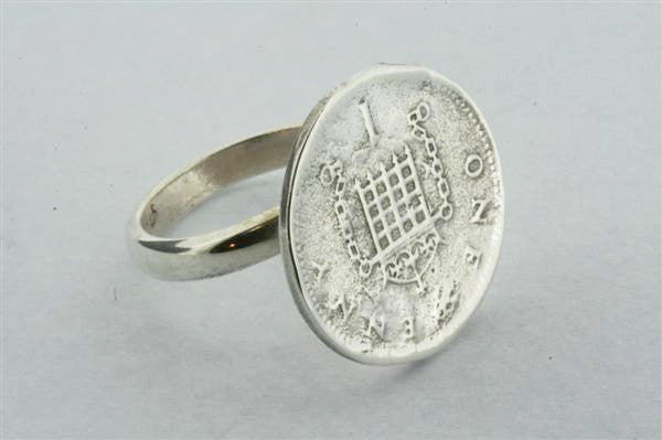 Sterling Silver Penny Ring