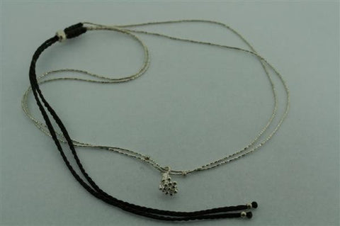 2 strand silver necklace - berry