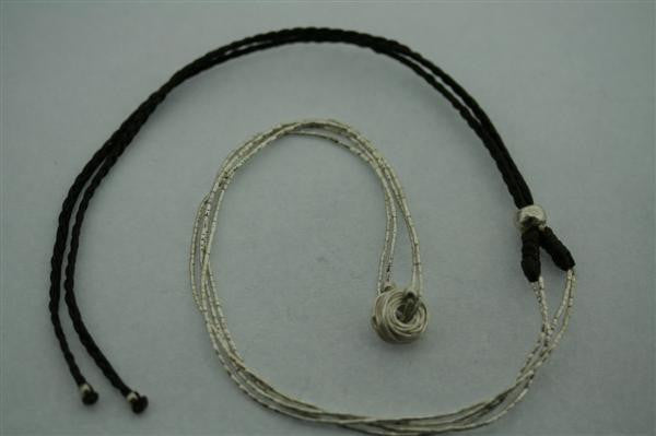 2 strand silver necklace - reel