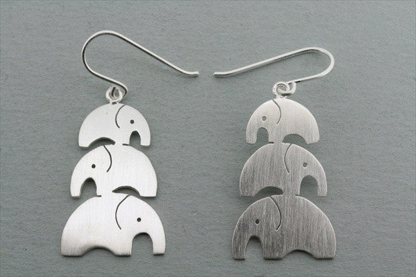 3 x elephant earring - vertical