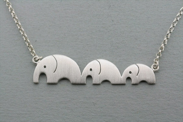 3 x elephant necklace