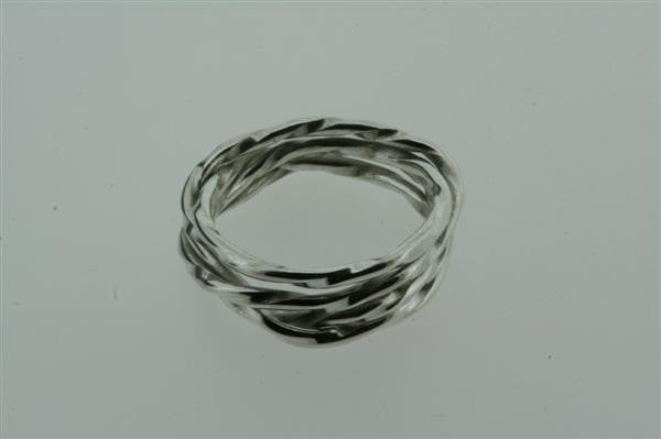 4 Strand Sterling Silver Knotted Ring