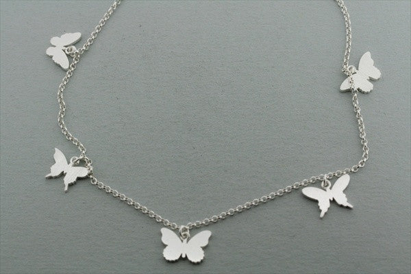 5 x butterfly necklace