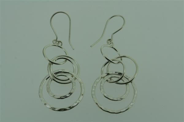 5 x ring hoop earring