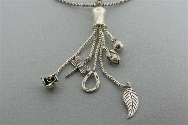 6 charm pendant necklace