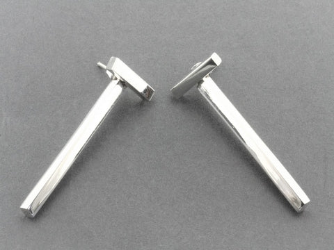 T bar 2 piece drop stud - sterling silver