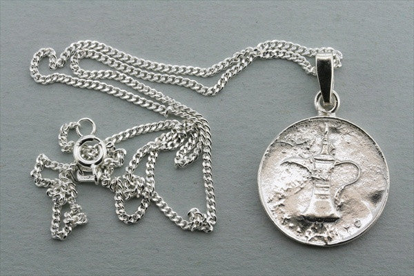 UAE coin pendant on 55cm link chain