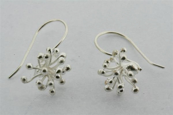 agapantha earring - pure silver