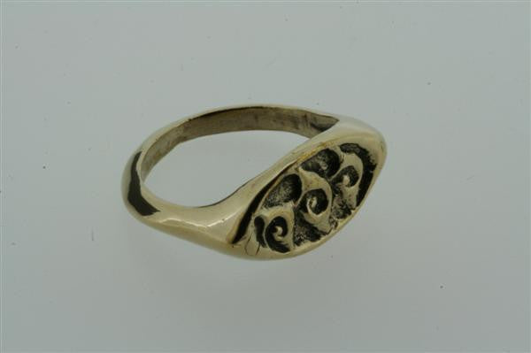 ancient burma ring - bronze