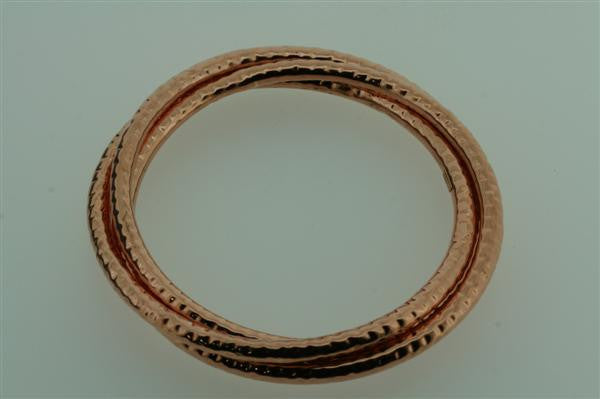 battered copper russian bangle