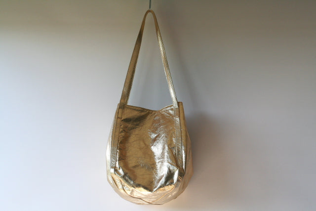 papaya bag - metallic gold