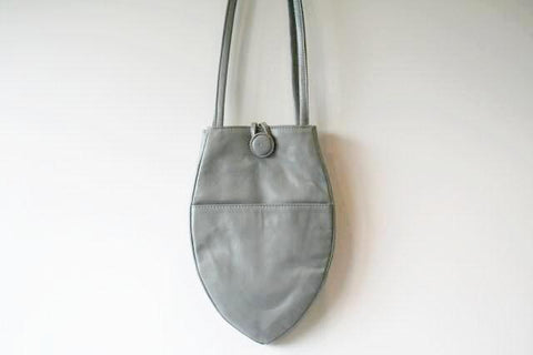 small papaya bag - silver