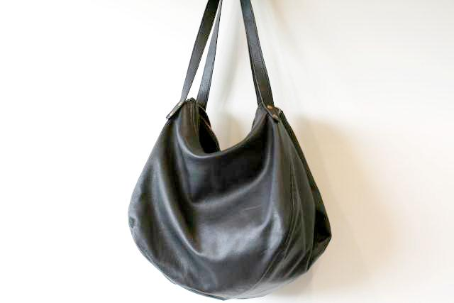 basket papaya bag - black