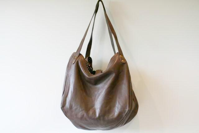 basket papaya bag - choc