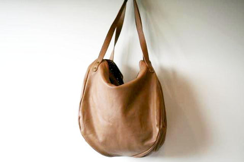 basket papaya bag - camel