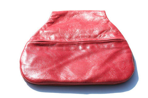 saddle pouch - red