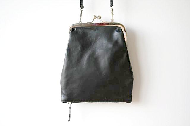 Frame & zip slouch pouch - black