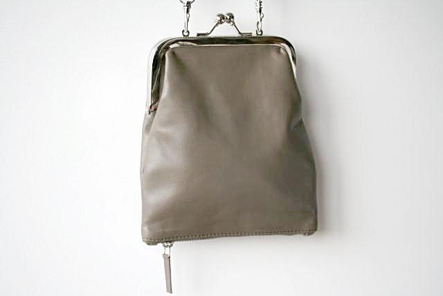 Frame & zip slouch pouch - grey