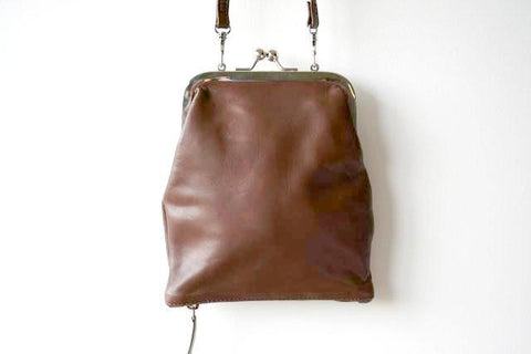 Frame & zip slouch pouch - choc