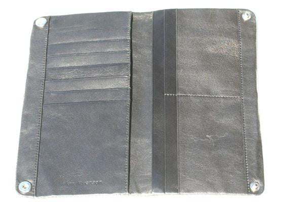 zip detail wallet - large - black