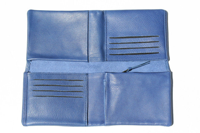 cross fold wallet - skipper blue