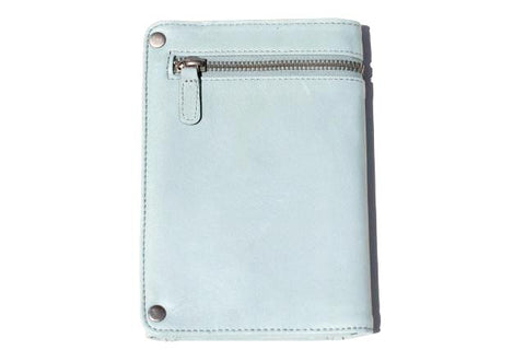 travel wallet - duck egg blue