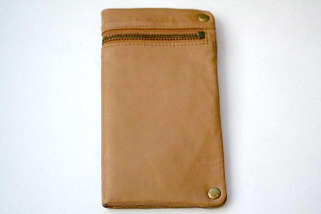 zip detail wallet - large - camel