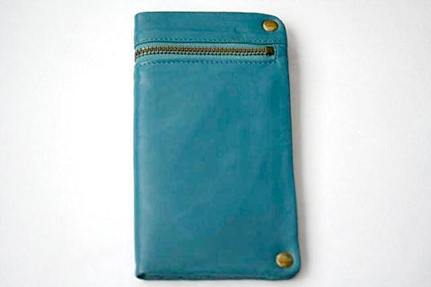 zip detail wallet - large - blue