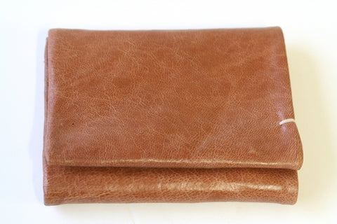 fold wallet - antique tan