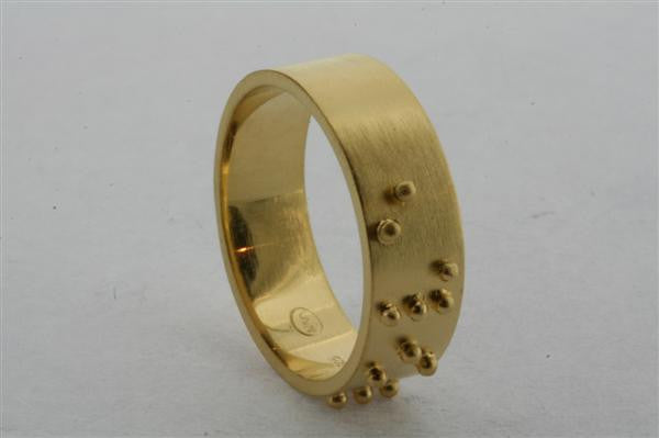 braille ring - love - gold plated