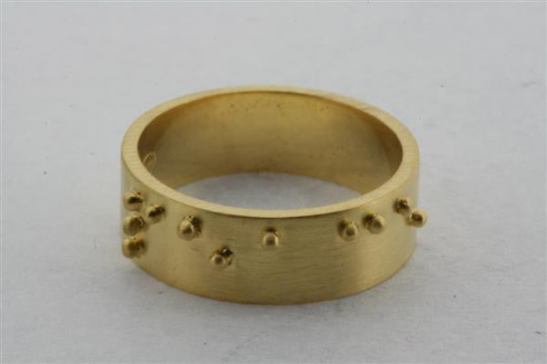 braille ring - peace - gold plated