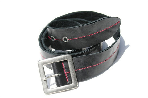 centre stitch belt - red stitch