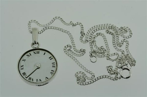 clock / years pass pendant on 55cm link chain