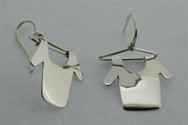 clothes hanger earring