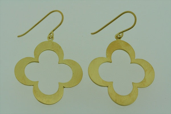 club earrings - gold plated