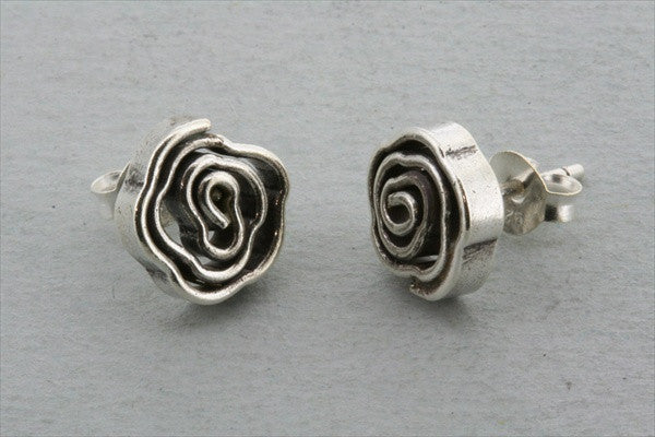 coiled rose earring