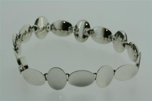 concave pebble bracelet - polished