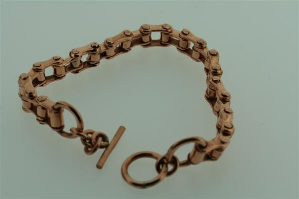 copper bycicle chain bracelet