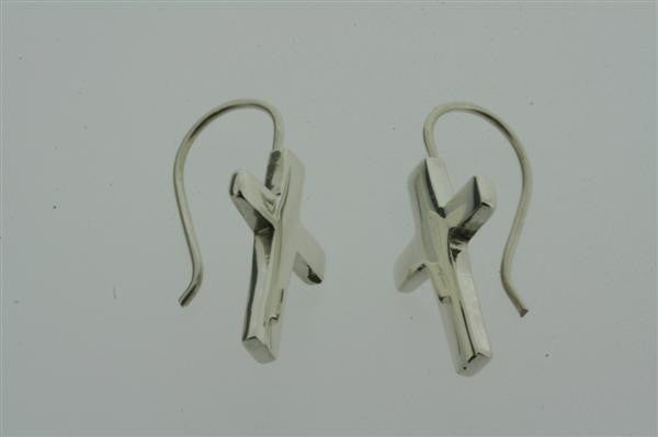 cross hook earring