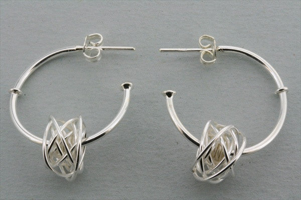 earring hoop with knot