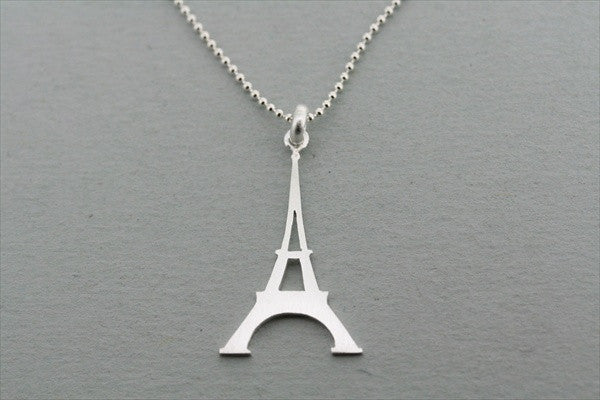 eiffel tower pendant on 55cm ball chain